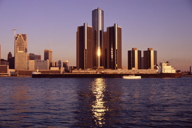 Detroit skyline michigan U.S. us