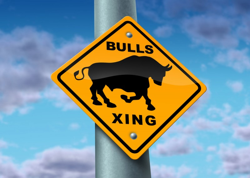 bull market street sign up