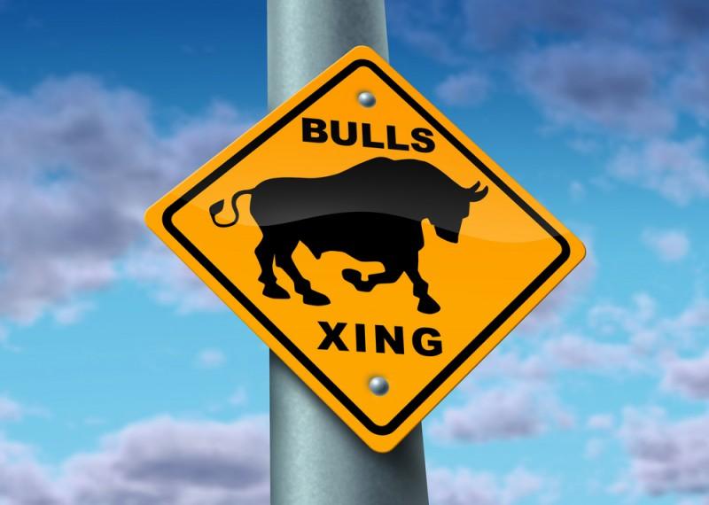 Bull Market road sign